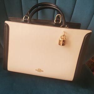 Black and Cream coach bag